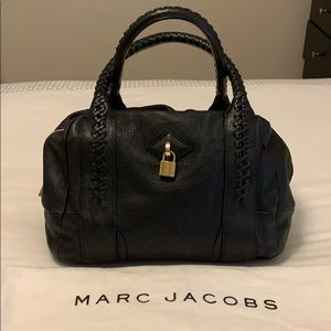 Marc Jacobs black leather braided handle satchel
